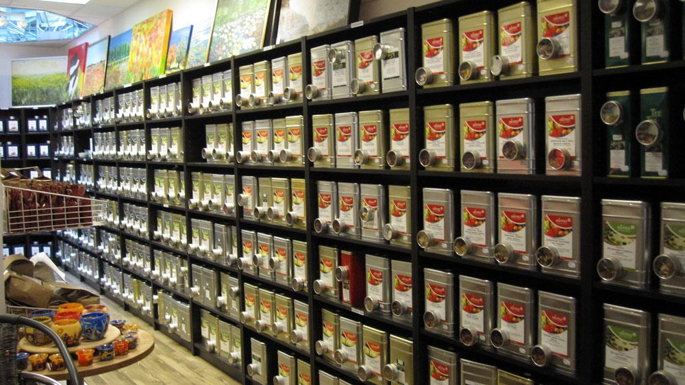 Decoración tienda de té