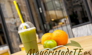 Matcha con zumo de naranja