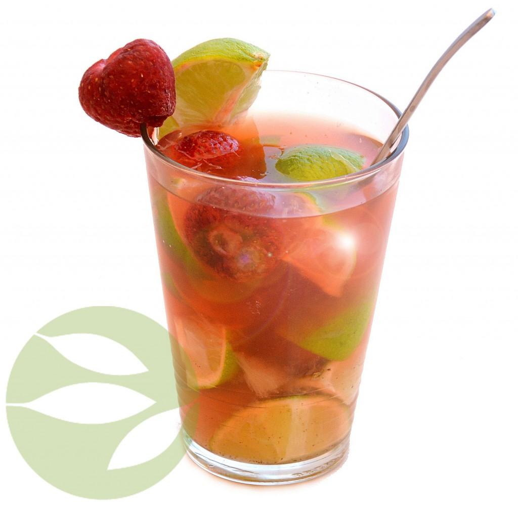 Cocktail de té verde para el invierno